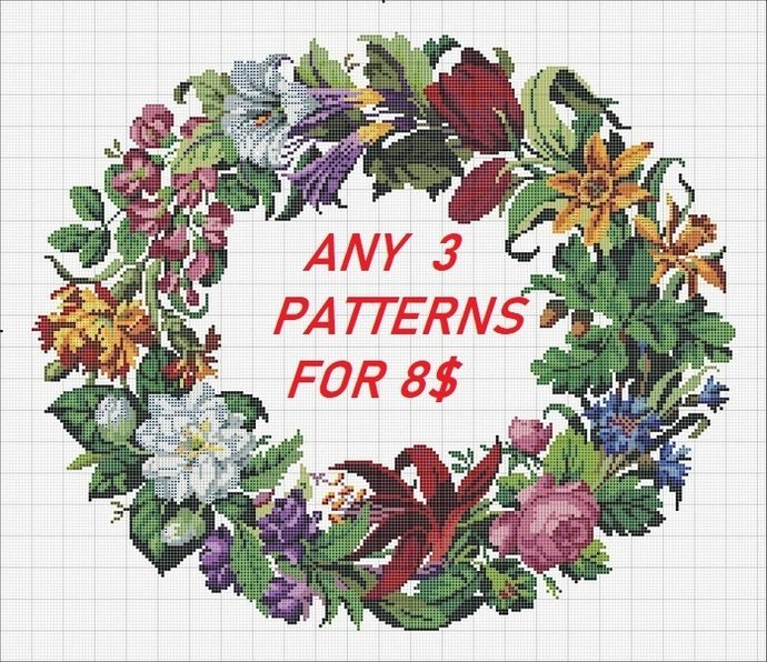 Promotional Listings Buy ANY 3 Patterns for 8.00 dollars Cross Stitch Patter