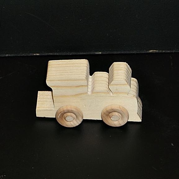 Birthday Party Pack 10 Wood Toy Train Engines BP-1-169AAH-U    unfinished or