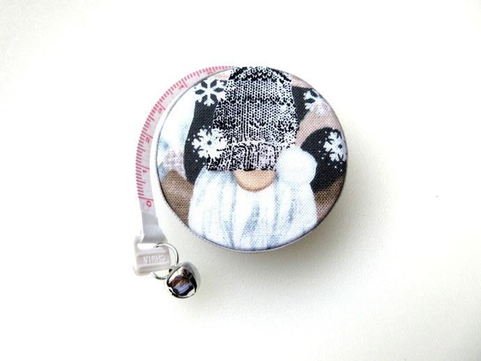 Small Tape Measure Winter Gnome Retractable Measuring Tape