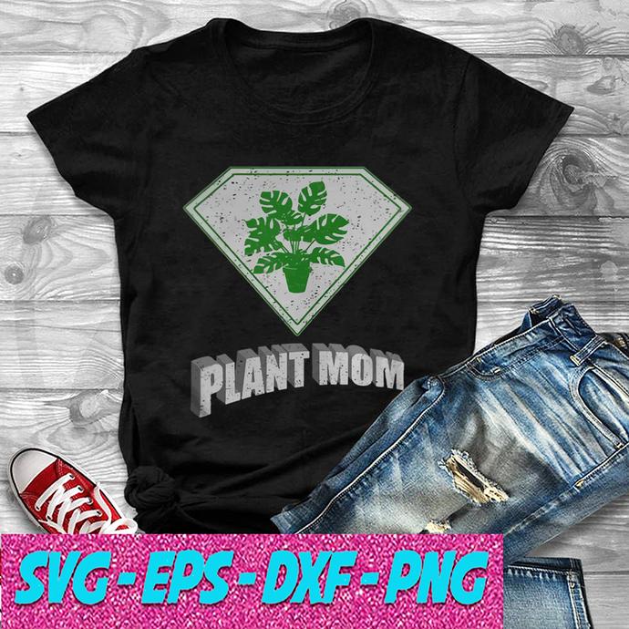 Plant Mom Super Hero Halloween Costume Monstera Deliciosa SVG , EPS , DXF , PNG
