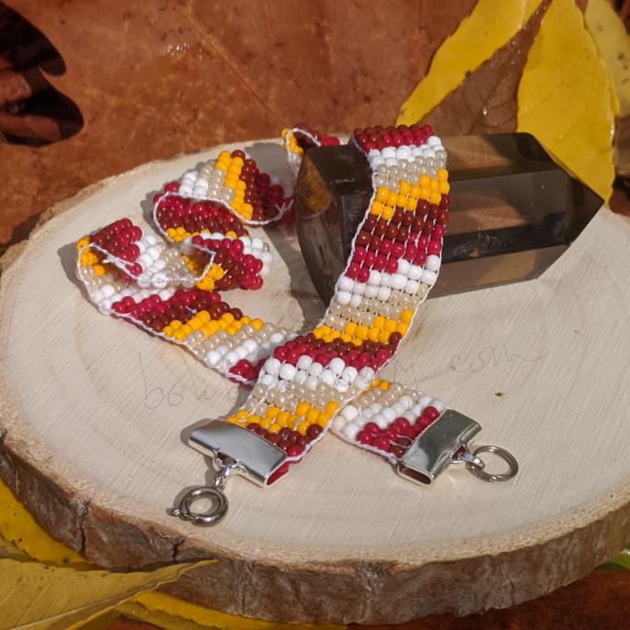 """""""Warm Scarves"""" Design - Handmade Beaded Loom Bracelet, Anklet, Choker, Boot"""