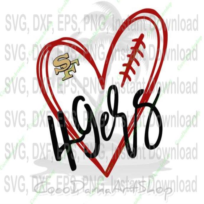 Love 49ers Svg San Francisco 49ers Svg Sf By Svg File Sport On Zibbet
