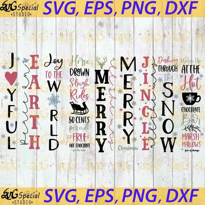 Christmas Vertical Sign Svg, Christmas Svg, Cricut File, Clipart, Sign Svg,