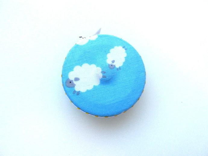 Measuring Tape Sweet Sheep on Blue Small RetractableTape Measure