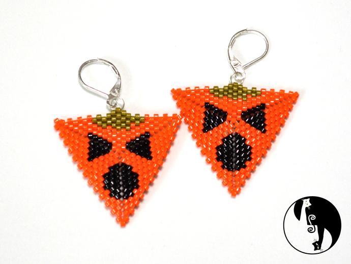 Halloween Pumpkin Triangle #3 Tutorial