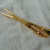 vintage gold plated artist's brushes brooch mint