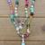 Mix Gems, Larimar Beaded Necklace, Abundance Necklace, Hand knot jewelry, by