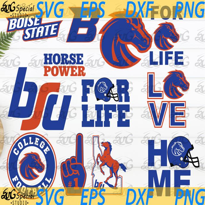 Boise state NCAA, NCAA Svg, Footballl Svg, Cricut File, Clipart, Love Football,