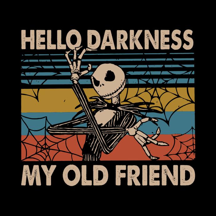 Happy Halloween Jack Skellington Hello Darkness By Bunnysvg On Zibbet