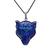 Pave Diamond Pendant,Natural Lapis Lazuli Wolf Head Silver Pendant,Polish Wolf