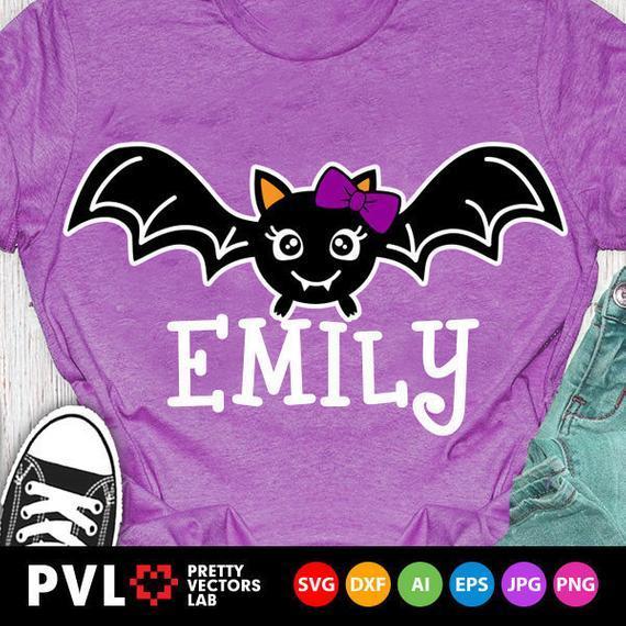 Halloween Svg Cute Bat Svg Girl Bat Svg By Halloween Shop On Zibbet