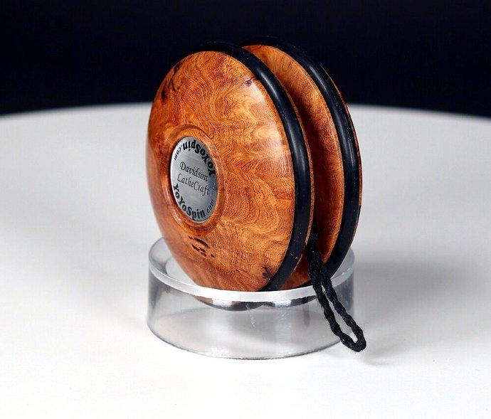 Handmade Imperial Yo-Yo ... Rare & Exotic Afzelia Burl