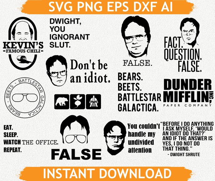 The office svg, office svg, office png, office eps, office dxf, bear beets