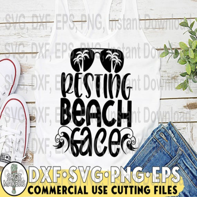 Resting Beach Face Svg Design Summer Svg By Halloween Files On