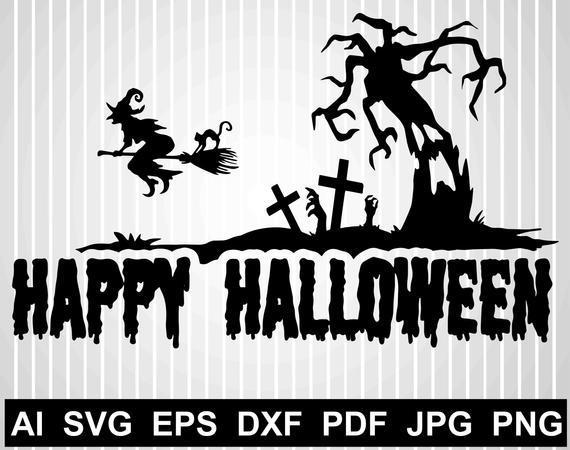 Happy Halloween Svg Cuts Files For By Halloween Shop 2020 On Zibbet