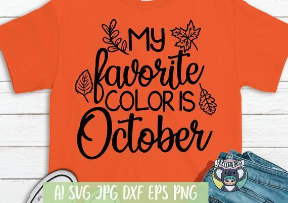 Hello Fall Svg My Favorite Color Is By Halloween Shop 2020 On Zibbet