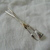 vintage silver plated artist's brushes brooch mint