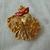 vintage gold mardi gras pin red enamel mask mint unused