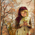 Sweet Girl and Fawn Digital Collage Greeting Card3027