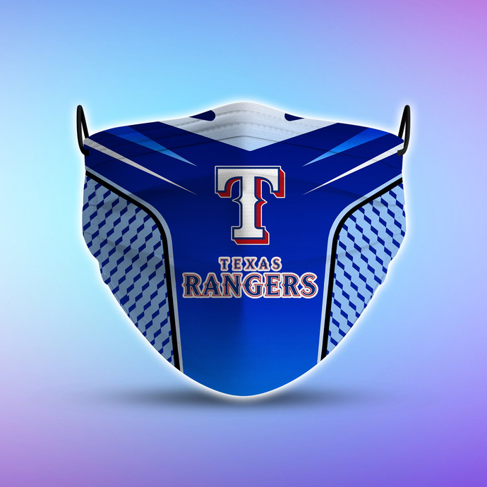 Texas Rangers Style 5 face Mask Washable, Adjustable, Reusable Face Mask