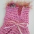 Fuzzy Trimmed Soft Pink Dog Sweater , Fun Fur Sweater, Hank-Knit Pet Apparel,