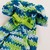 Green/Teal Variegated Soft Comfortable Cotton Dog Sweater, Hand-Knit Cool