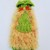 Green Fun Fur Multi-Colored Dog Sweater, Small Dog Sweater, Hand-Knitted Cold