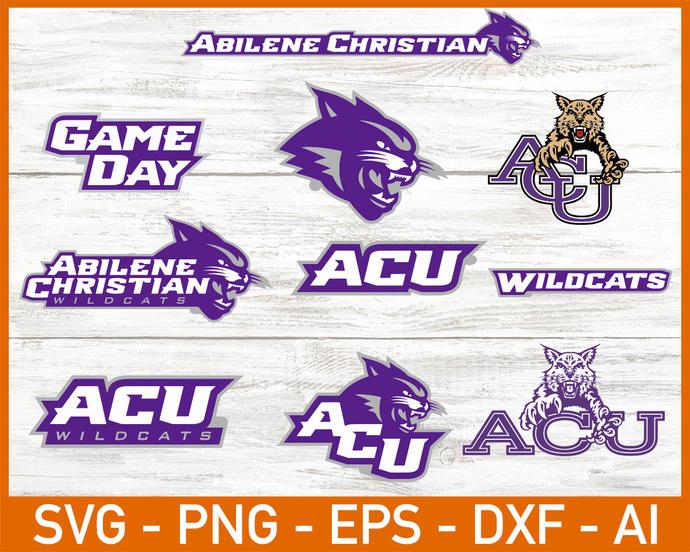 Abilene Christian Wildcats, Abilene Christian Wildcats SVG, Abilene Christian