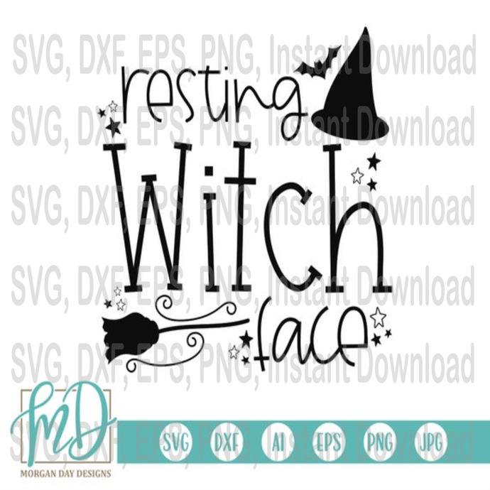 Halloween Svg Resting Witch Face By Halloween Svg Bundle On Zibbet