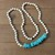 The Sacred Necklace, Long Beaded Necklace, with Turquoise, Jewelry fit for your