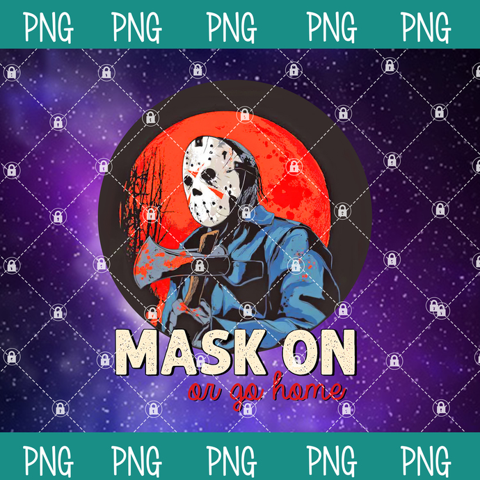 Michael Myers PNG, Mask On or Go Home Png,Happy Halloween Png, Halloween Png,
