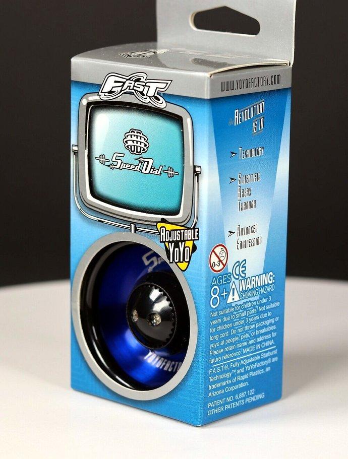 New/Mint In Original Package - Vintage YoYoFactory FAST Speed Dial Yo-Yo (blue)