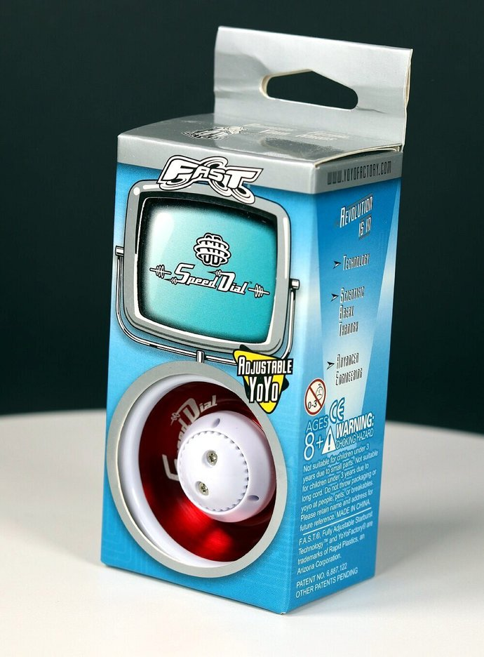 New/Mint In Original Package - Vintage YoYoFactory FAST Speed Dial Yo-Yo (red)