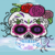 Sugar Skull Mini C2C 100x130 includes graph with color chart instructions