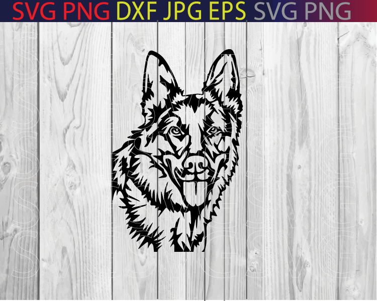 German Shepard head silhouette svg png eps dxf jpg pdfgerman shepard svg cut filegerman shepard clip artdog svgdog clip artdog head svg