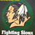 Fighting Sioux Cross Stitch Pattern***LOOK***X***INSTANT DOWNLOAD***