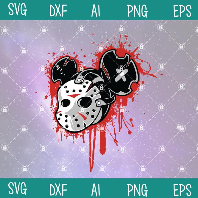 Micky mask vector shirt svg, Mickey Svg, Mickey Halloween Svg, Halloween Svg,