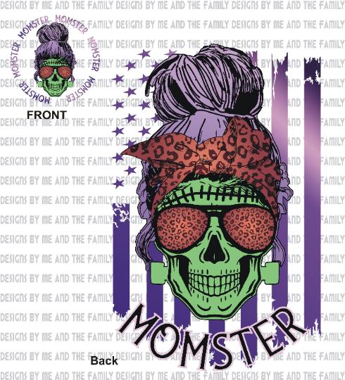 Momster, Salty Skull Mom, Halloween Mom, fantasy, fiction, sublimation, PNG