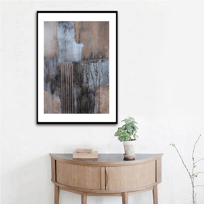 Printable abstract, Beige art print from original painting, neutral wall art,