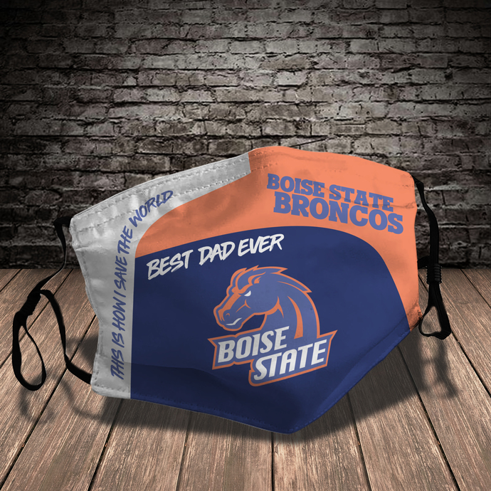 Boise State Broncos Style 7 face Mask Washable, Adjustable, Reusable Face Mask
