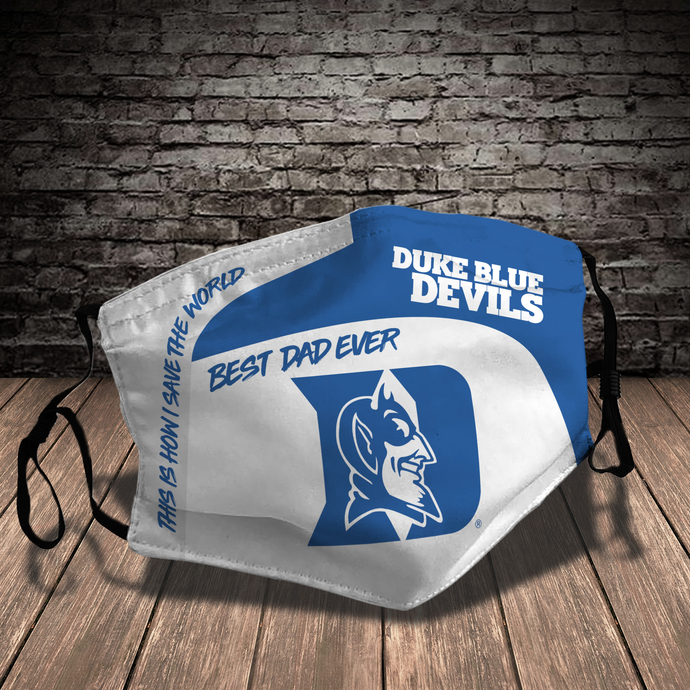 Duke Blue Devils Style 7 face Mask Washable, Adjustable, Reusable Face Mask