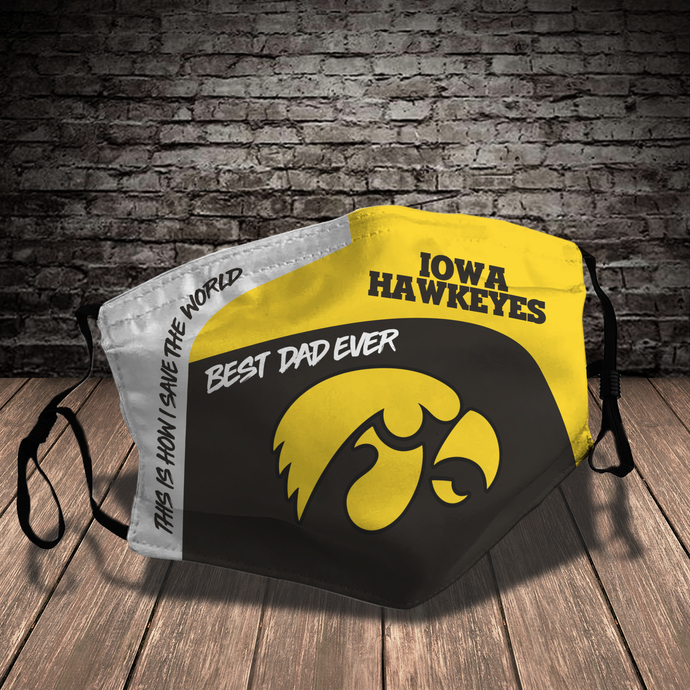 Fight For Iowa Style 7 face Mask Washable, Adjustable, Reusable Face Mask