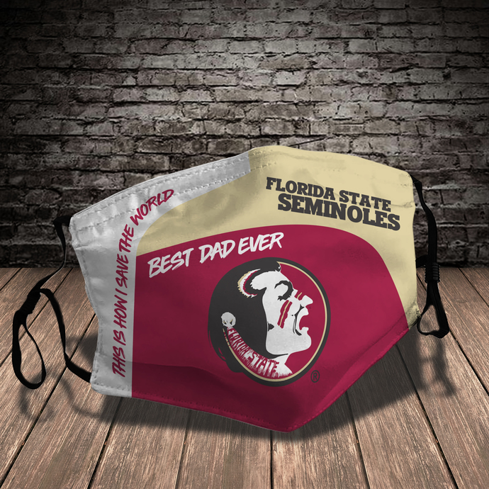 Florida State Seminoles Style 7 face Mask Washable, Adjustable, Reusable Face