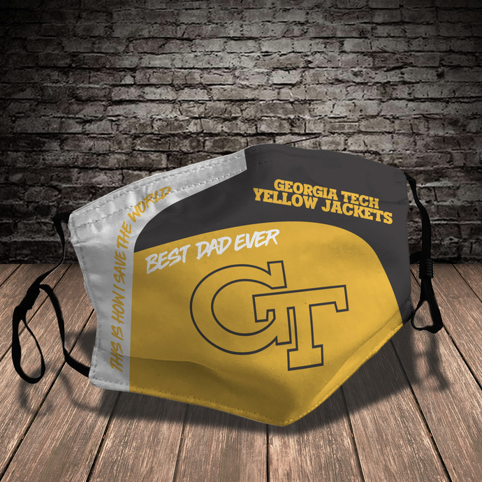 Georgia Tech Yellow Jackets Style 7 face Mask Washable, Adjustable, Reusable