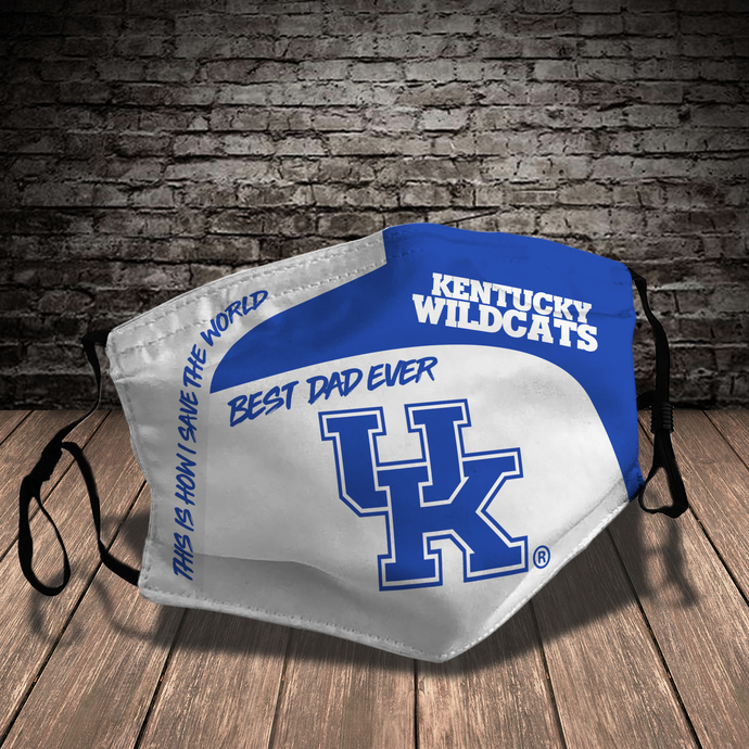 Kentucky Wildcats Style 7 face Mask Washable, Adjustable, Reusable Face Mask