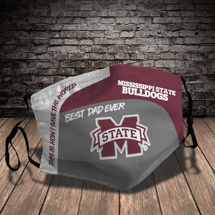 Mississippi State Bulldogs Style 7 face Mask Washable, Adjustable, Reusable Face