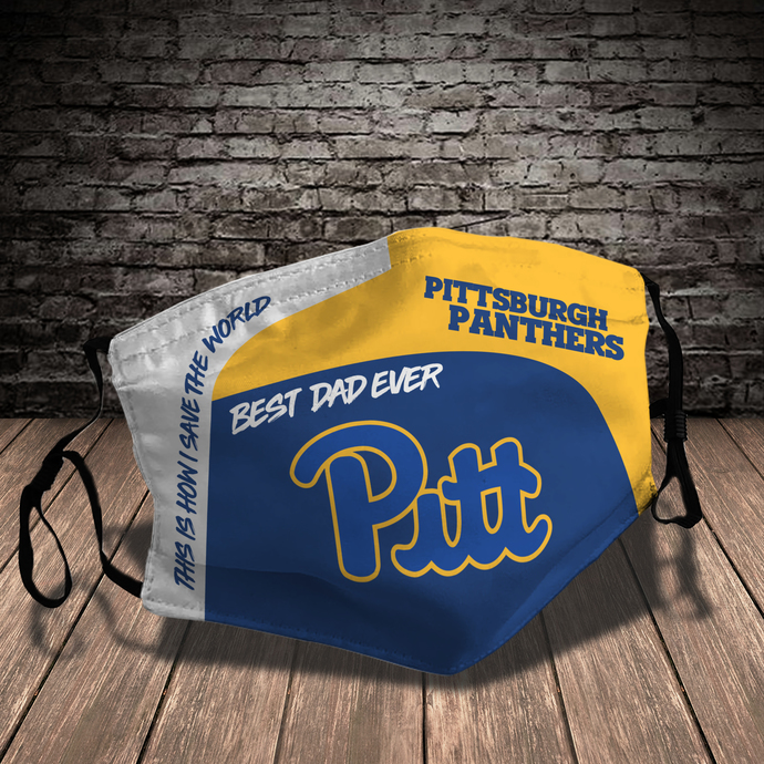 Pittsburgh Panthers Style 7 face Mask Washable, Adjustable, Reusable Face Mask