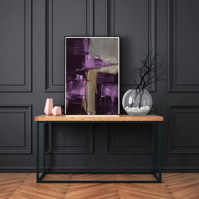 abstract wall art, purple abstract, wall art violet beige, Modern Wall Art,