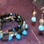 Black Agate Memory Wire Stack Set