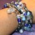 Quartz and Blue Crystal Stretch Bracelet Stack